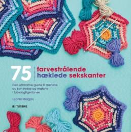 75 farvestrålende hæklede sekskanter