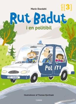 Rut Badut i en politibil